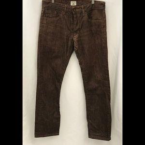 Railcar Jeans - Railcar Brown Buttonfly High Waist Jeans Size 32
